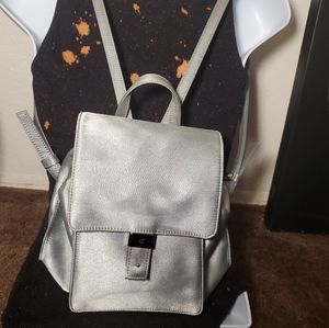 Calvin Klein platinum/silver mini back pack